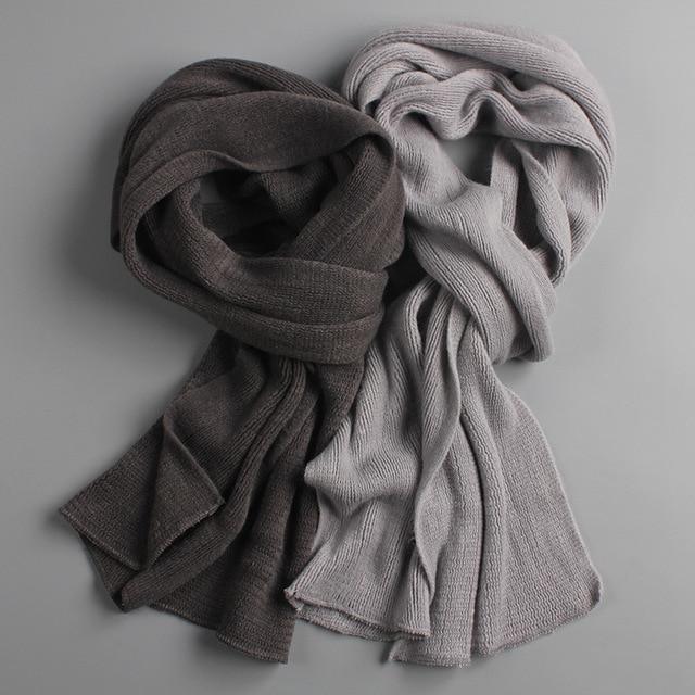 Inverno quente cachecol malha grossa quente inverno cachecóis masculino cashmere quente masculino cachecóis
