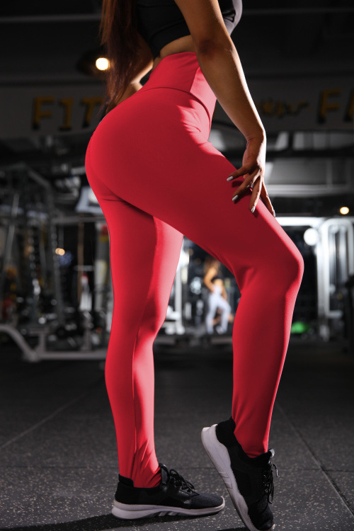 Maryigean New High Waist Leggings Women Fitness Clothes 2019 Slim Ruched Bodybuilding Women
