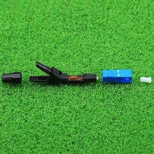 Image 4 - KELUSHI 100 stücke/SC UPC Optic Faser Schnell Anschluss FTTH SC Einzigen Modus UPC Schnelle Stecker