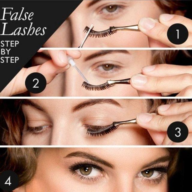 3 paires de faux cils naturels beauté maquillage épais croix volumineux Style malpropre cils Extension femmes mode maquillage outil 5