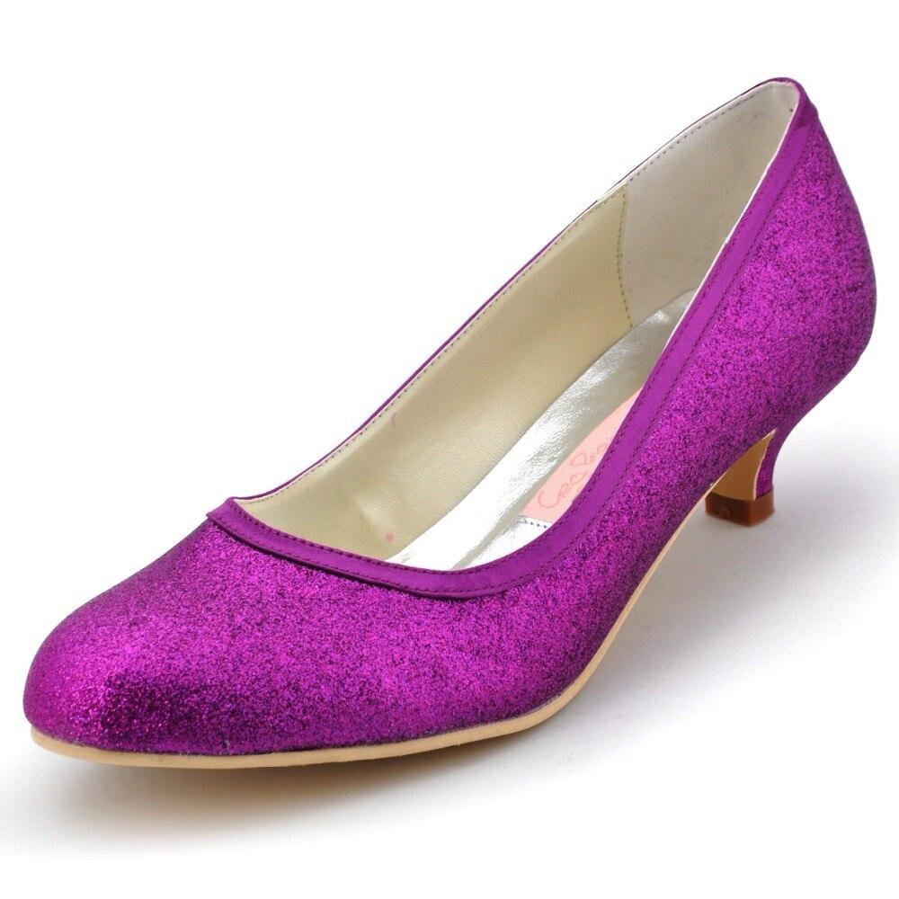 ФОТО Fashion ElegantPark EP1077 Women Closed Toe Spool Heel Rhinestone Glitter PU Wedding BridalParty Shoes