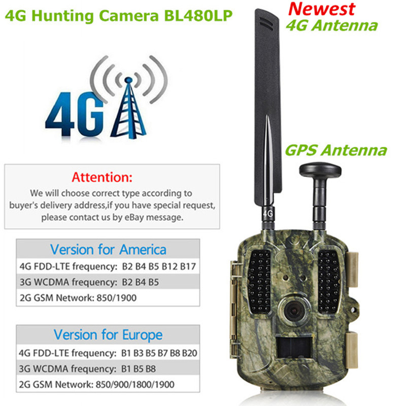 4G caméra de chasse GPS FTP caméra trail Email avec 4G chasse faune caméra support MMS GPRS GSM Photo pièges 4G vision nocturne