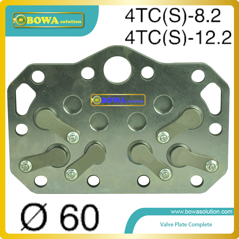Refrigerator & Freezer Parts Adroit M4 Dia.60mm Valve Plate Complete Compatible With Bitzer Compressor 4tcs 8.2 And 12.2 Jade White
