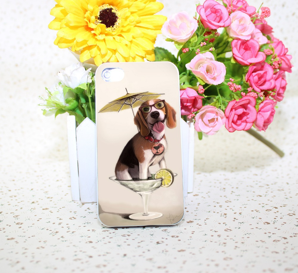tessi the party beagle White Hard Case Cover for iPhone 4 4s 5 6 1pc
