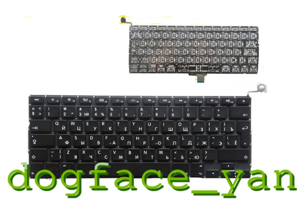 Russia Keyboard For Macbook Pro A1278 MD313 MD101 MC700 MD314 laptop Black Keyboard RU-in