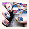 1 sheet Water Transfer Nail Art Sticker Decal Color Clouds 3D Print Manicure Tips DIY Nail Foils Decorations 8173