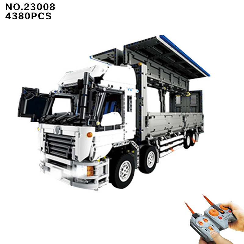 Hot moc radio ramote control Wing Body Truck building block model with light 9 motors lepins technic bricks rc toy boys gifts technican technic 2 4ghz radio remote control flatbed trailer moc building block truck model brick educational rc toy with light