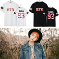 2016 BTS Bangtan мальчики suga jimin jungkook рэп моды harajuku официальный футболка