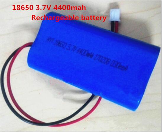 NEW 18650 <font><b>3.7V</b></font> <font><b>4400mah</b></font> Loudspeaker Rechargeable lithium <font><b>battery</b></font> 18650 3.7V4400mah Li-ion <font><b>battery</b></font> pack image