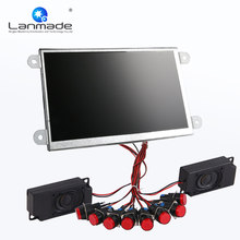 7 inch lcd display open frame 16:9 shop video werbung push-taste LCD digital signage player(China)