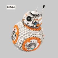 1106pcs Star Wars series BB8 robot Building Blocks For children toys gifts compatible legoings 75187
