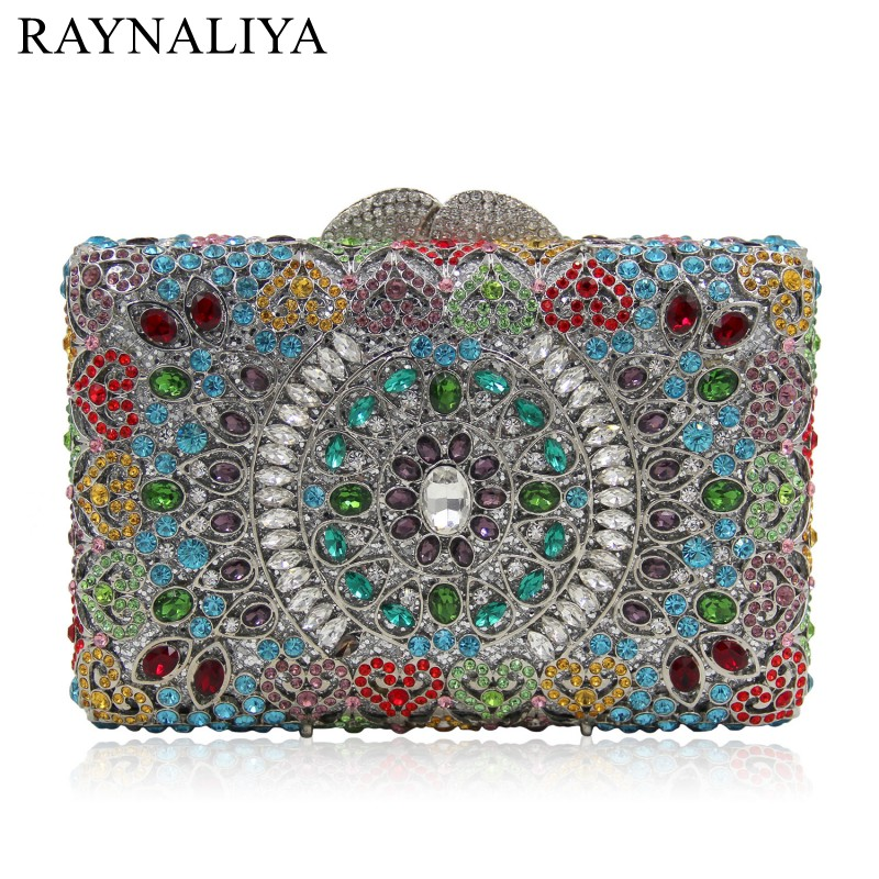 Crystal Evening Bags Day Clutches Colourful Diamonds Clutch Bag Fashion Girls Party Handbags 13 Colours Available Smyzh-e0100