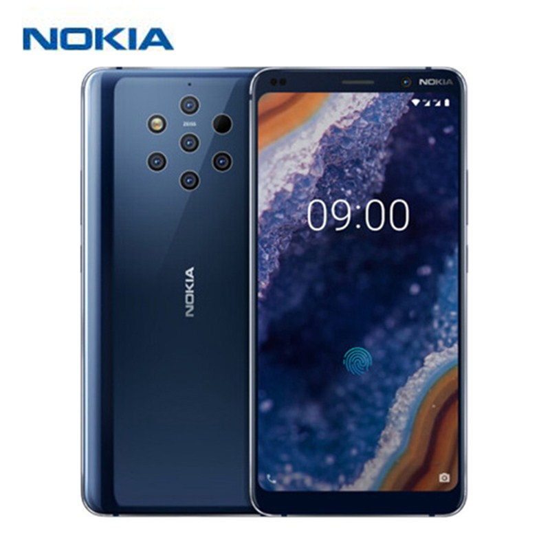 Nokia 9 PureView 4G Smartphone 5.99'' Android 9 Pie Snapdragon 845 Octa Core 6GB 128GB 5x12.0MP Rear Cams 3320mAh Mobile Phones