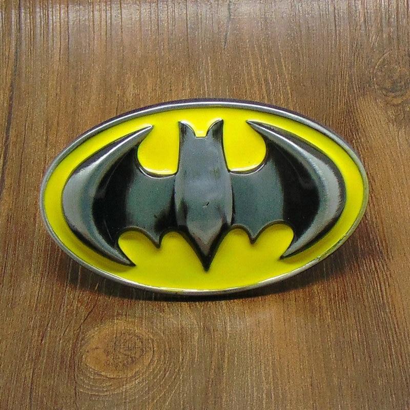 New Costume Western  Batman Superhero Mens Metal Belt Buckle Leather Gift