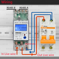 5(65)A 220V 50HZ Positive reverse active reactive power Din rail KWH Watt hour DDS238 2 ZN/S energy meter with RS485 function
