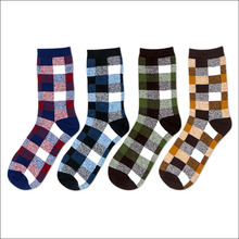 New Brand Cotton Men's Socks England Style Man Sock for Men Colorful Dress Sock Male Business Casual Socks 4 pairs / lot