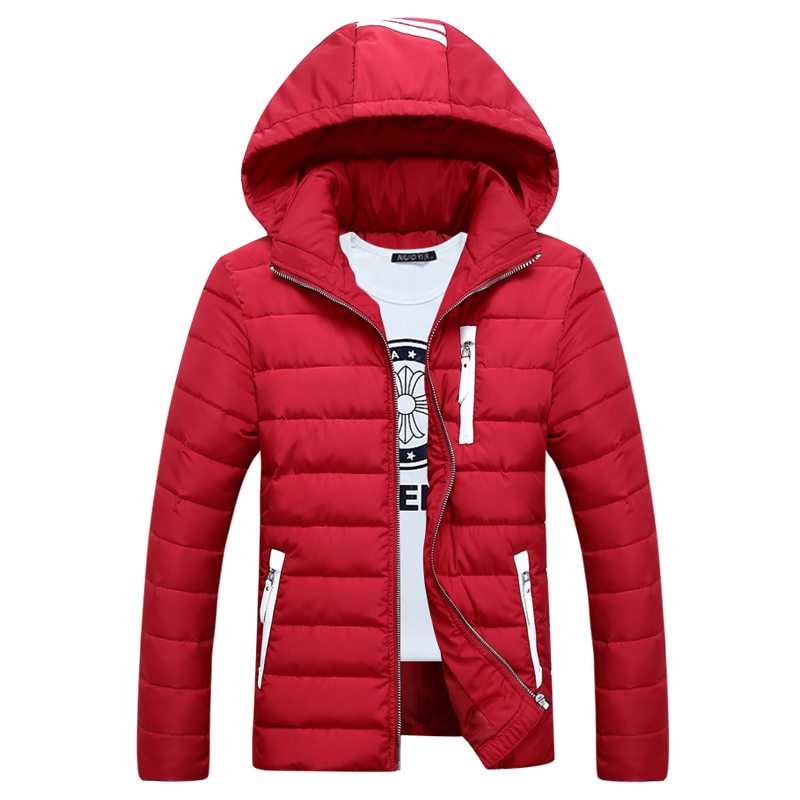 ФОТО Fashion Slim Fit Men Winter Hooded Coat Down Jackets for Men Thick Zippers Outwears for men Parkas Plus Size QH9361