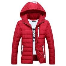 Мода slim-подходят мужчины зима с капюшоном пальто куртки для мужчин толстые новорожденных Outwears для мужчин парки Большой размер QH9361