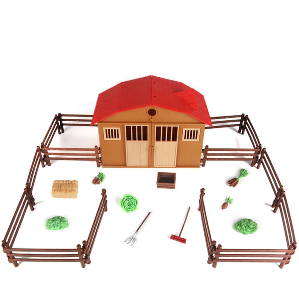 Simulé Sable Table Scène Modèle de Ferme Ranch Maison Jouet Ensemble Enfants Intelligence Jouet Modèle