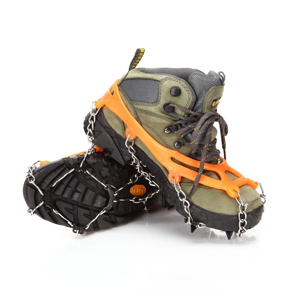 Image 2 - Снежная захваты для обуви льда криперы льда цепляющиеся шипы легко надевается через анти скольжение 8 зубы когтей кошки на открытом воздухе Лыжный Спорт Восхождение на снежную погоду-in Аксессуары для альпинизма from Спорт и развлечения
