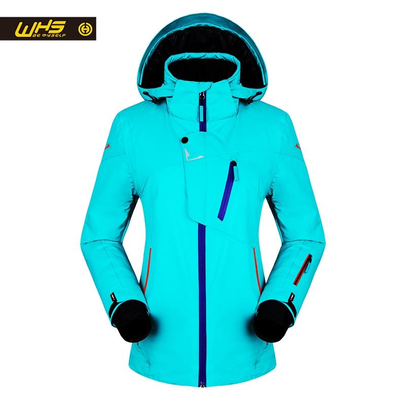 WHS Nuove Donne di sci Giubbotti inverno Outdoor Scarponi Da Neve Caldi del cappotto del Rivestimento femminile scarponi da neve impermeabili signore giacca traspirante vestiti di sport