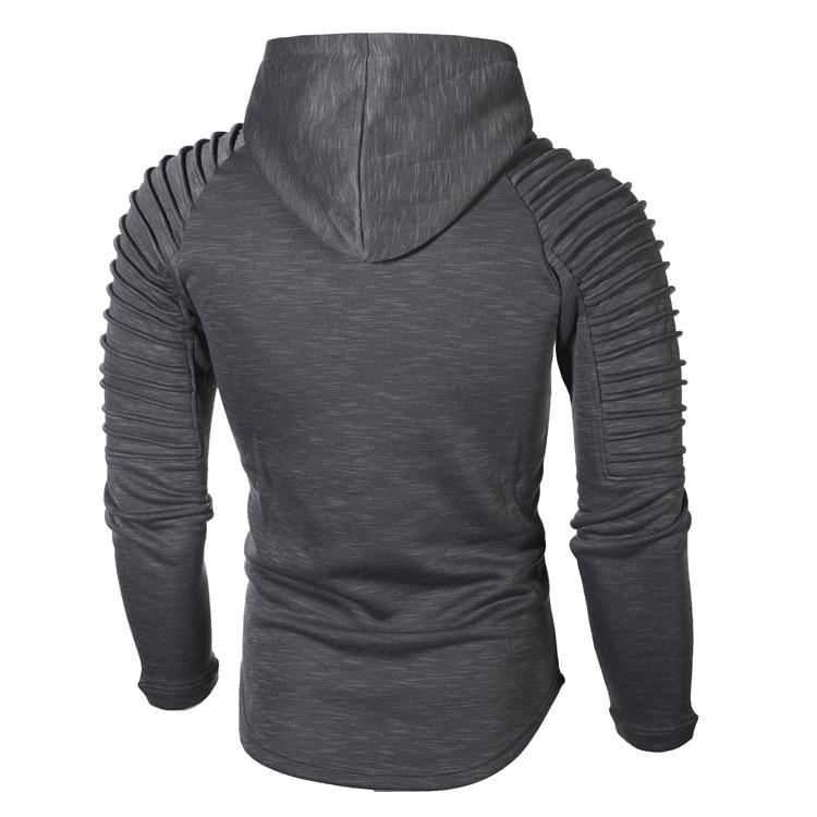 DIMUSI Brand Fashion Mens Hoodies Men Solid Color Hooded Slim Sweatshirt Mens Hoodie Hip Hop Hoodies Sportswear Tracksuit,TA301 3