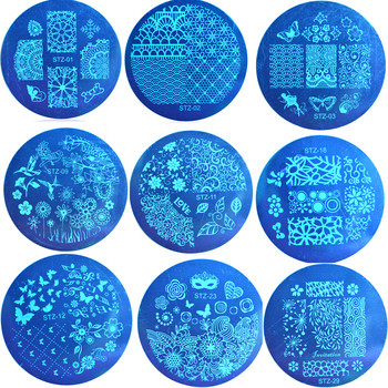 10pcs/lot  Beautiful Butterfly Flowers Lace Patterns Nail Art Stamp Template Image Plate Nail Stamp Plate JISTZA01-30