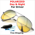Brand Design Day/Night Multifunción Gafas Polarizadas de Conducción hombres Antideslumbrante gafas de Sol de las mujeres + Caja de accesorios