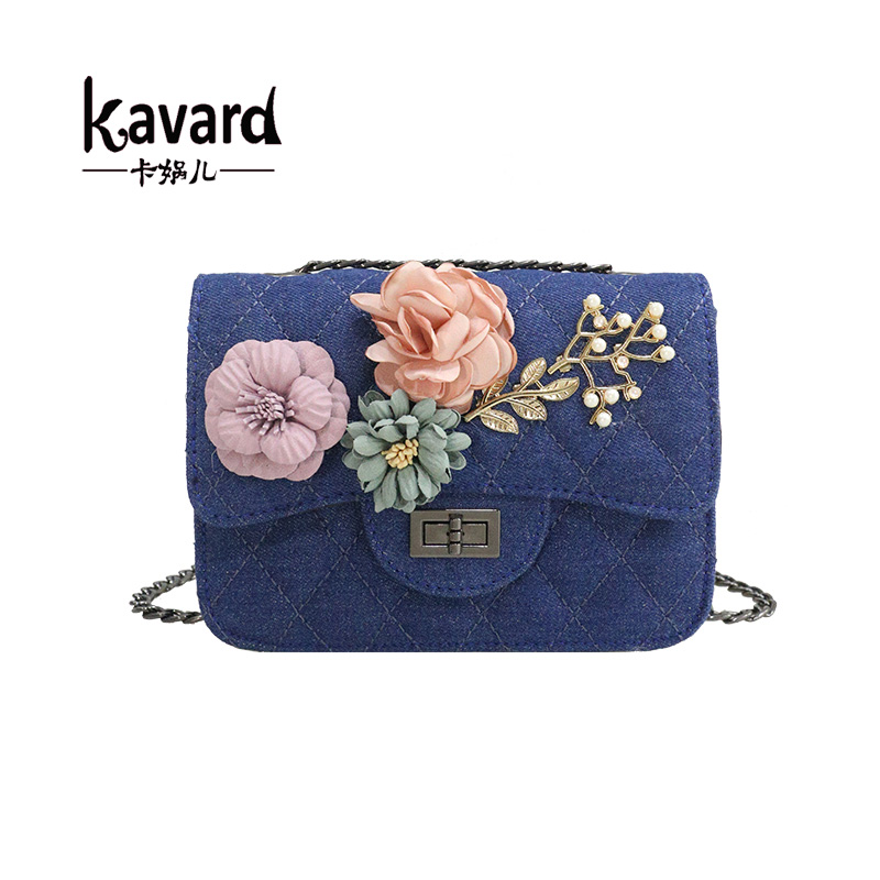 Kavard Shoulder Bags designer Nylon Flowers Mini bag handbag women famous brand Bead Crossbody women Messenger bag sac a main jasmin noir famous brand women messenger bag high quanlity fashion crossbody bag designer handbag smiley women s shoulder bags