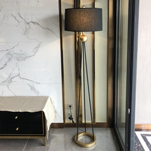 American Style Retro LED Iron Floor Lamps Bedroom Living Room Standing Lamp Hotel Decor Floor Light Fixtures Luminaire Lighting все цены