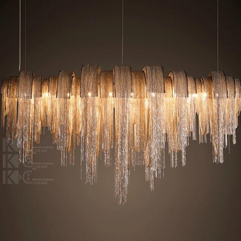 Modern Metal Chandelier: Aliexpress.com : Buy 2015 new chandelier modern aluminum chain chandelier  villa abajur modern metal lighting 110V 220V+free shipping from Reliable  metal ...,Lighting