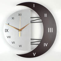 Nordic personality wall   clock   modern large size mute scan movement wall   clock   living room bedroom reloj pared decoration