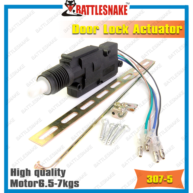 free shipping top quality car door lock actuator cf307 5 wires heavy