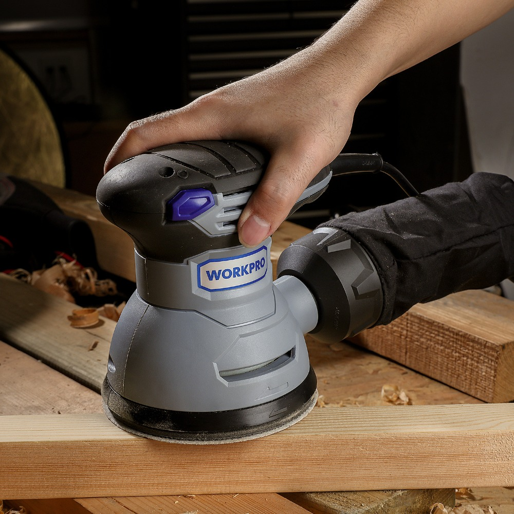 Image 2 - WORKPRO 300W Random Sander with Variable Speed Random Orbit Sander with 10PC sandpaper Dust exhaust and Hybrid dust canister-in Sanders from Tools on