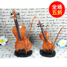 Violin music box fashion jewelry ornaments Home Furnishing Decor infant Teddy instrument