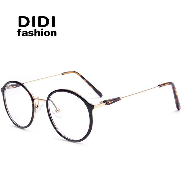 ac9ae72b1 ديدي التيتانيوم ليوبارد نظارات للكمبيوتر للجنسين مستديرة معدنية إطار نظارات  واضح إطارات النظارات البصرية وصفة طبية