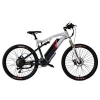 Eunorau 48V500W Электрический велосипед полная подвеска Высокая крутящий момент высокая скорость Vermillion ebike