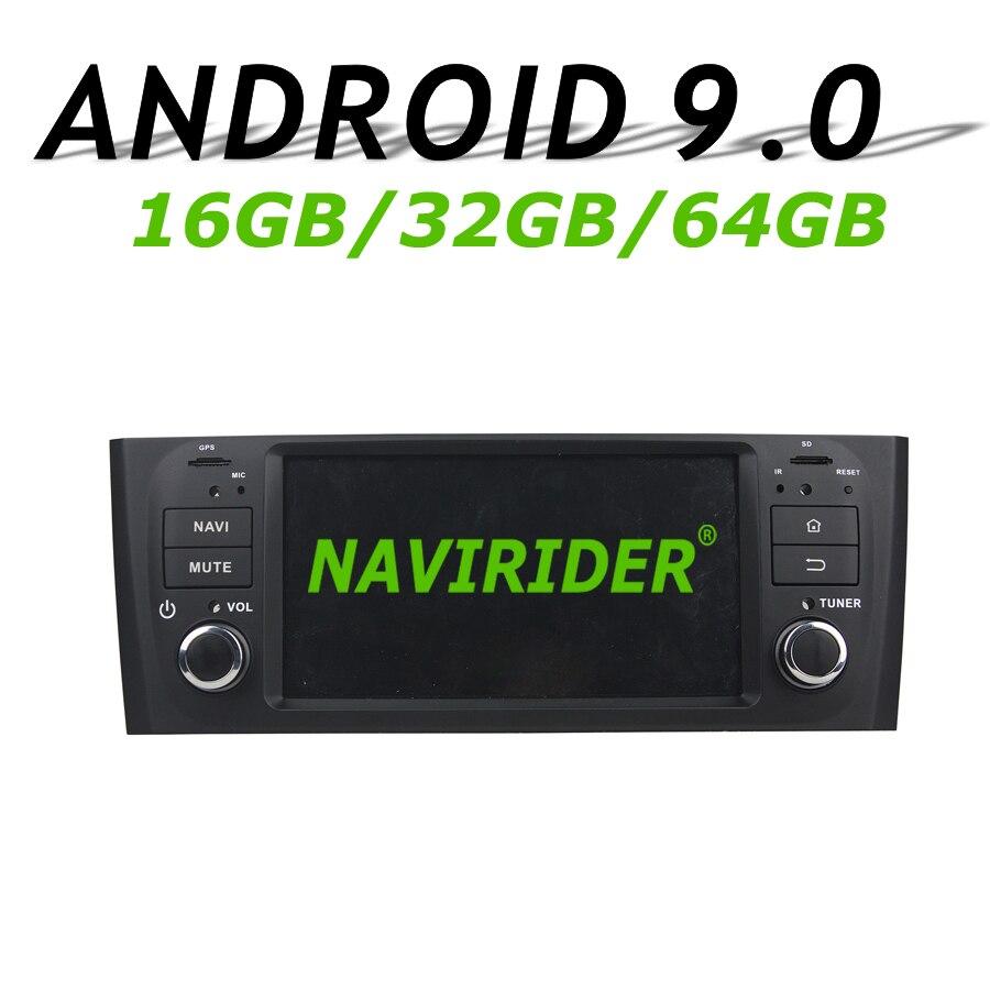 Navirider GPS navigation pour Fiat punto linea 2007-2013 écran tactile DVD voiture android 9.0 64 gb rom radio bluetooth lecteur stéréo