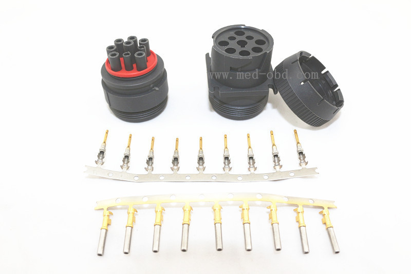 1Set Deutsch Connector for Track J1939 9pin Connector 9 PIN Female Diagnosctic Tool Connector 1 set deutsch connector j1939 conector j1939 9 pin female and male plug auto diagnostic tool 9 pin conectors for car