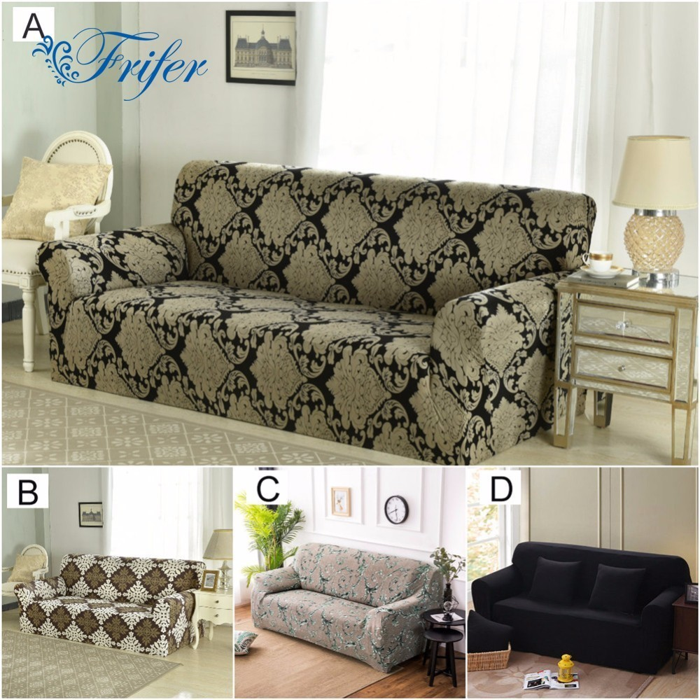 Armless Universal Stretch Sofa Covers Elastic Spandex Sofa