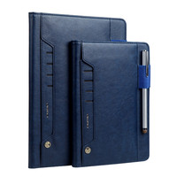 For IPad Mini 4 Sleeve Cover Luxury Flip Leather Tablet Protective Case With Hand Strap Pen