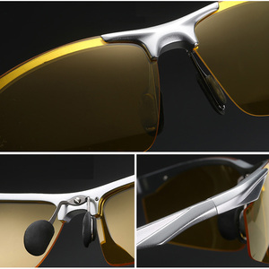 Image 4 - AOWEAR Mens Polarized Night Vision Glasses for Driving Goggles Aluminum Yellow Sunglasses Men High Quality Driver Eyewear