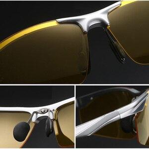 Image 4 - Aowear男性の偏ナイトビジョンメガネ駆動ゴーグルアルミ黄色サングラス男性高品質のドライバー眼鏡