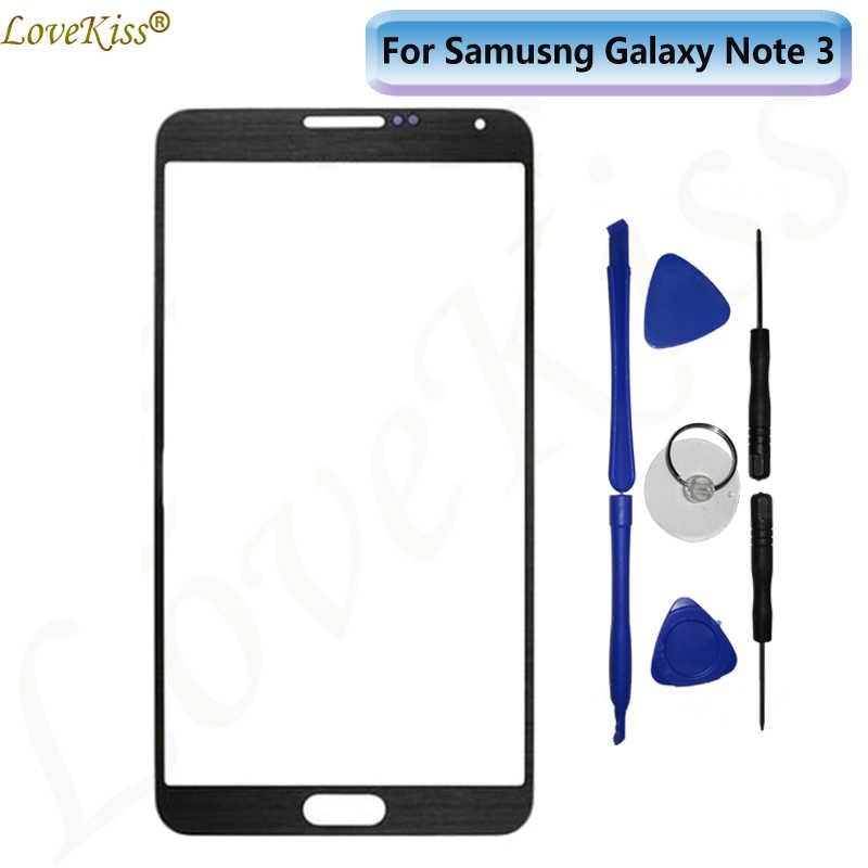 Frente de Vidro Exterior Para O Samsung Galaxy Note 3 N900F N9005 Sensor de Tela De Toque Digitador Tampa Da Lente Substituição Visor Do Painel de Ferramentas