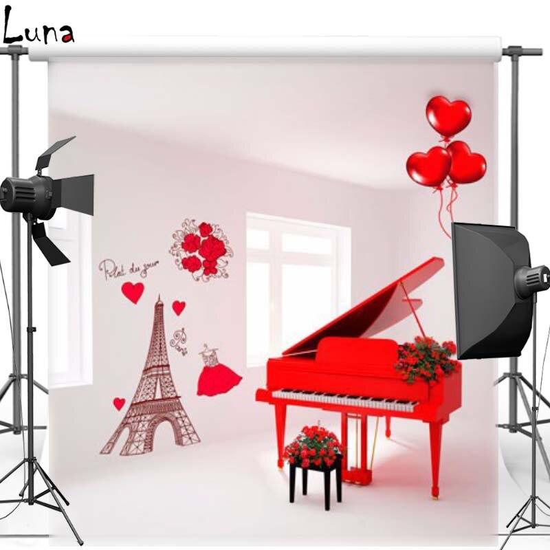 Fondo de piano de vinilo para el corazón de la fotografía Fondo - Cámara y foto