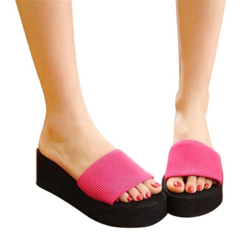Splendid Shoes Women sandal lady s Women Summer Shoes Sandals Slipper indoor outdoor Black Beach Flip