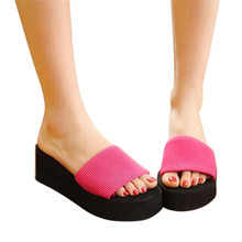 Splendid Shoes Women sandal lady's Women Summer Shoes Sandals Slipper indoor outdoor Black Beach Flip-Flops Footwear size 35-39