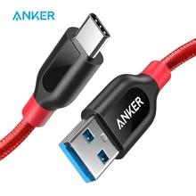Anker Powerline + USB C a Cavo USB 3.0, USB Tipo C Cavo, ad alta Resistenza per Samsung iPad MacBook Sony LG HTC Xiaomi 5 ecc