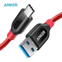 Anker Powerline + USB-C a USB 3,0 Cable de USB tipo C Cable de alta durabilidad para Samsung iPad MacBook Sony LG HTC Xiaomi 5, etc.