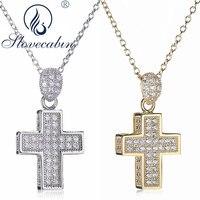 Slovecabin Echt 925 Sterling Silber Kreuz Anhänger Halsketten Für Frauen Lange Halskette Bijoux Femme Sterling Silber Schmuck